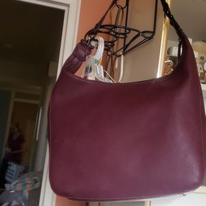 Jessica Hobo bag wine